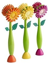 Assorted Flower Dish Brushes eclectic-cooking-utensils