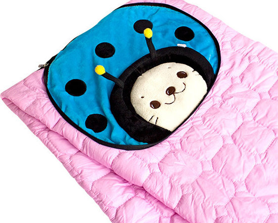 "Blancho Bedding - [Sirotan - Ladybug Blue] Blanket Pillow Cushion / Travel Blanket (39.4""-59.1"") - The Coral Fleece Throw Blanket Pillow Cushion / Travel Pillow Blanket measures 39.4 by 59.1 inches for blanket/quilt. The shell is embellished with details of embroidery and applique. Use it as a cushion while folded and zippered, and as a blanket/quilt while opened. Zipper on side, that is where the blanket/quilt can be stored. Whether you are adding the final touch to your bedroom or rec-room, these patterns will add a little whimsy to your decor. Machine wash and tumble dry for easy care. Will look and feel as good as new after multiple washings! This blanket adds a decorative touch to your decor at an exceptional value. Comfort, warmth and stylish designs. This throw blanket will make a fun additional to any room and are beautiful draped over a sofa, chair, bottom of your bed and handy to grab and snuggle up in when there is a chill in the air. They are the perfect gift for any occasion! Available in a choice of whimsical kid-friendly prints to spark the imagination, the blanket is durable enough to look great on the go."