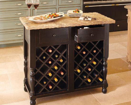Oakmont Kitchen Island, Wine Storage Base -