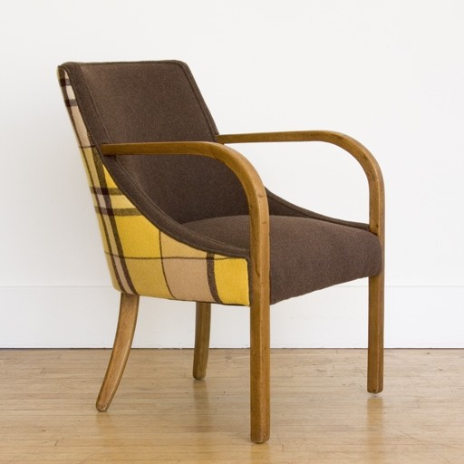 Modern Swoop Armchair contemporary-accent-chairs
