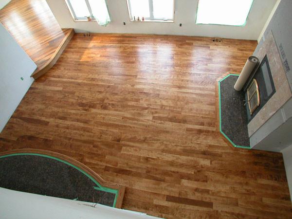 Select Birch - English Chestnut Stain - Modern - Hardwood Flooring - ottawa - by Logs End Inc