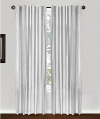 ... Tab Tap Curtain Panel Pair - Silver - Modern - Curtains - by Hayneedle