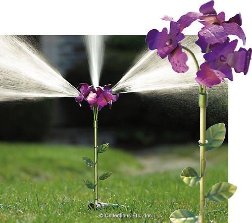 Iris Flower Lawn Sprinkler Yard Stake eclectic-watering-and-irrigation-equipment