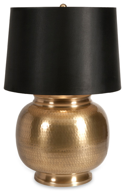 Raisa Oversized Brass Lamp contemporary-table-lamps