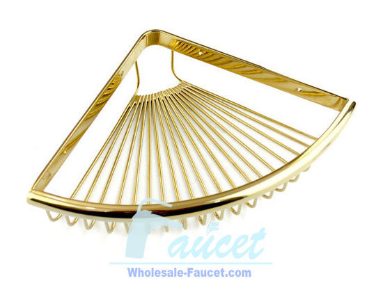 Soap Basket - This Wall-Mount Soap Basket in Polishe Brass features elegant Victorian styling and subtle detail. It is made from brass for durability and includes mounting hardware.