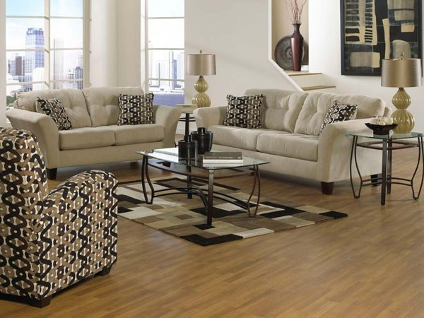 3 Piece Living Room Sofa Set: Halle 3 Piece Living Room Set In Doe