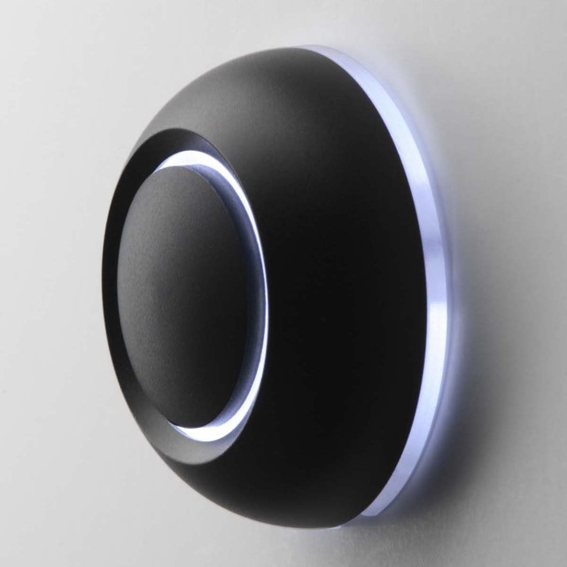 Illuminated Black True Doorbell Button By Spore Modern