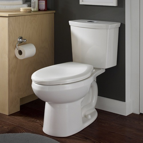 H2option Siphonic Dual Flush Elongated Toilet In White