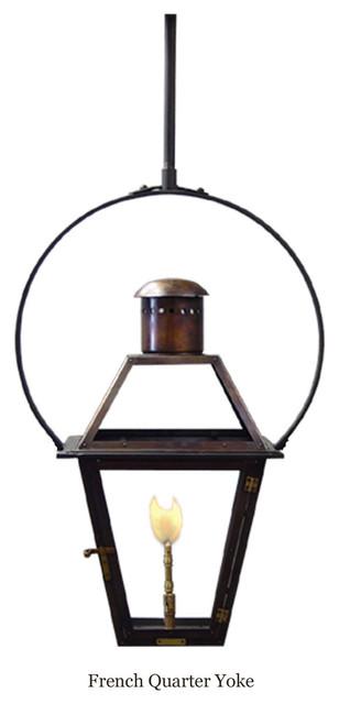 Bevolo French Quarter Lantern on Yoke Bracket traditional