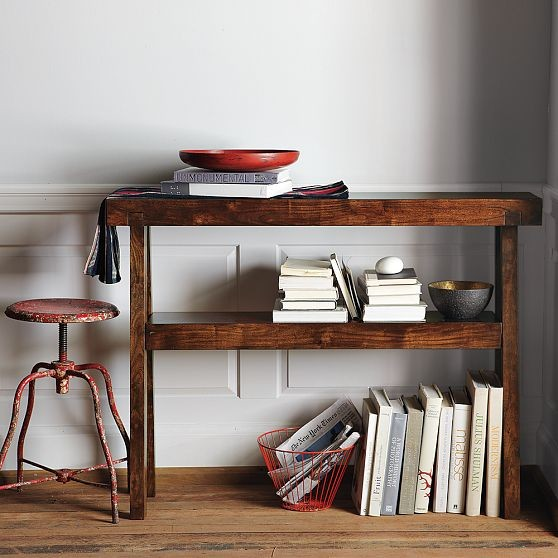 Rustic acacia console modern console tables by west elm for Wine and design west ashley