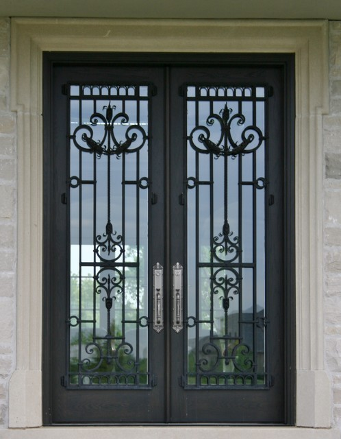Grill doors security metal door grill by onion via for Traditional front doors