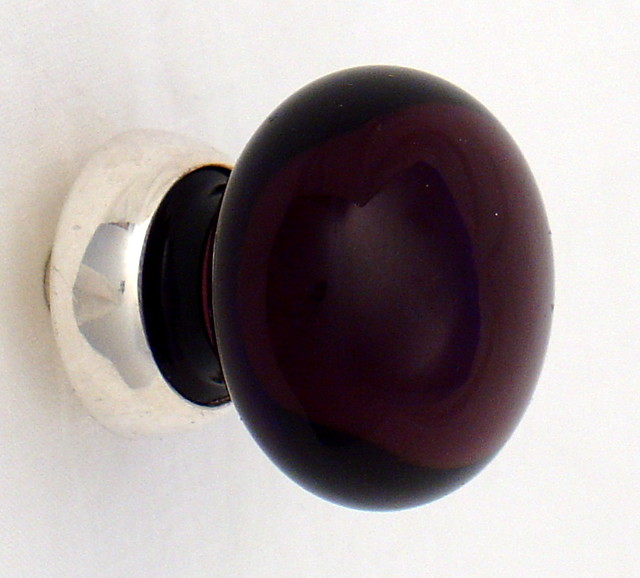 Purple glass cabinet knob - Contemporary - Knobs - other metro - by Merlin Glass