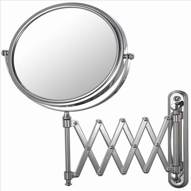 Mirror Image Arm Wall Mirror Chrome Contemporary