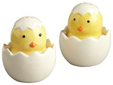 Chick in Egg Salt & Pepper Shakers eclectic-salt-and-pepper-shakers-and-mills