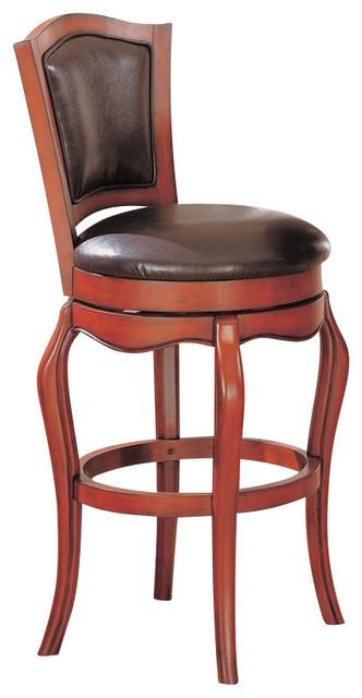 Coaster Harrison 29 Inch Swivel Faux Leather Bar Stool In