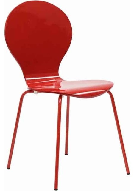 Modway - Insect Chair In Glossy Red - Eei-574-Red traditional-outdoor-lounge-chairs