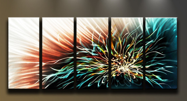 Metal Wall Art Abstract Modern Contemporary Flower Lotus contemporary-artwork