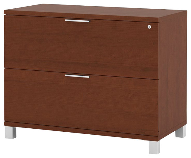 Bestar Pro-Linea Assembled Lateral File in Cognac - Transitional - Filing Cabinets And Carts ...