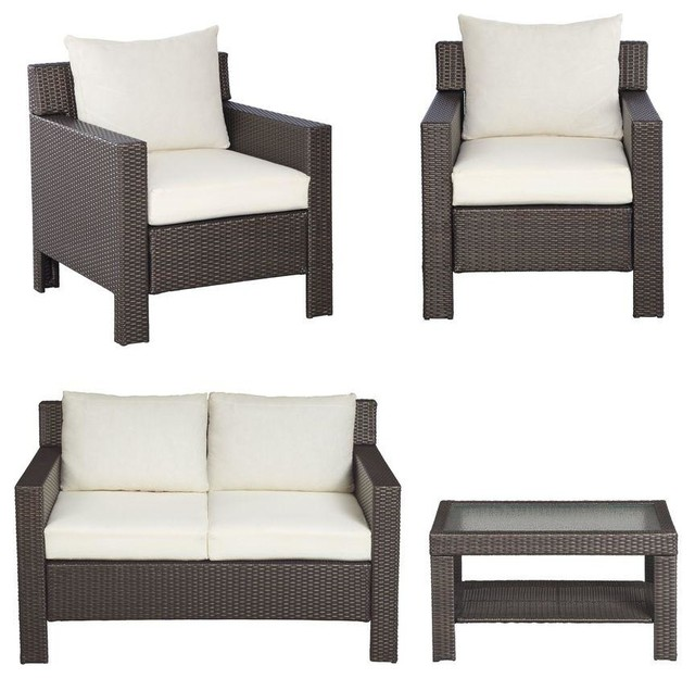 hampton bay dining furniture beverly 4 piece patio deep seating set