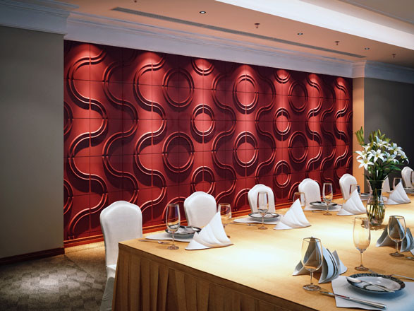 3d wall tiles for business hotel modern-home-office-accessories