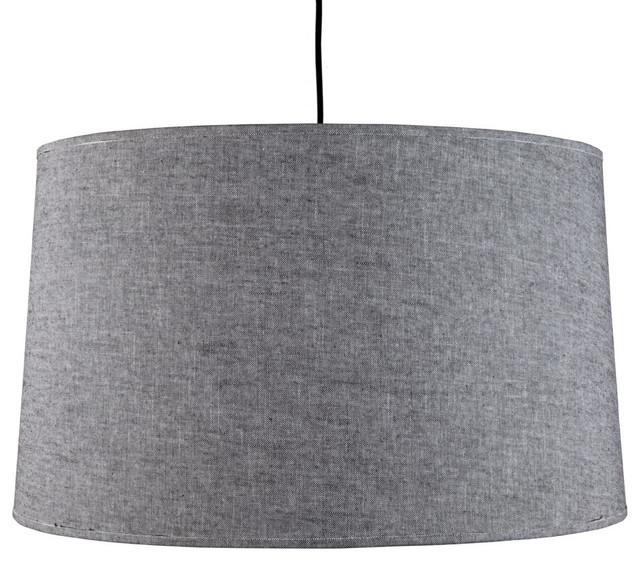 Weegee Pendant Lamp, Penguin Tweed modern-pendant-lighting
