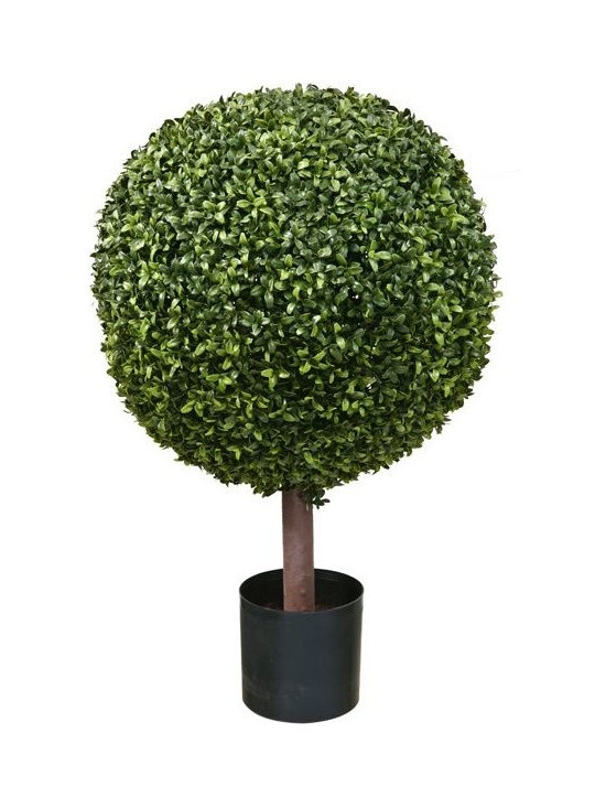 Artificial Outdoor Foliage - This artificial outdoor boxwood ball topiary is excellent for providing privacy in your outdoor room, around pools and patios and for creating realistic garden environments that do not require watering or maintenance.