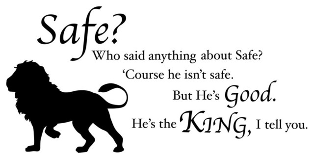 Chronicles Of Narnia Aslan Safe Quote Wall Decal Modern