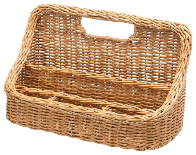 Wicker Desk Organizer - Traditional - Baskets - other metro - by KOUBOO