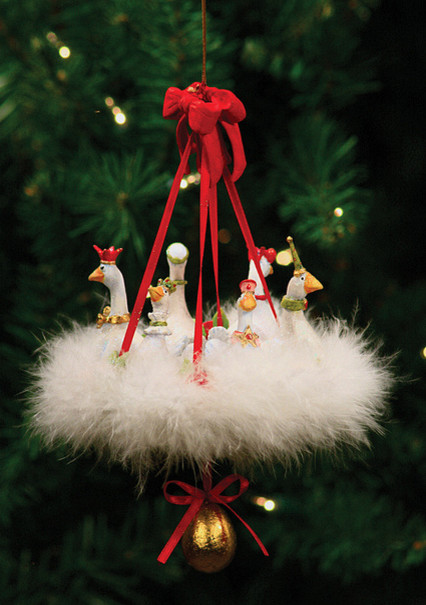 Patience Brewster Six Geese A Laying Ornament - traditional ...