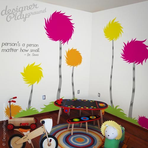 Dr seuss wall decal traditional kids decor other for Dr seuss wall mural decals