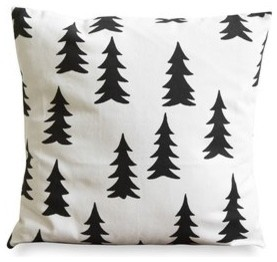 Gran Black Pillow Case contemporary-decorative-pillows