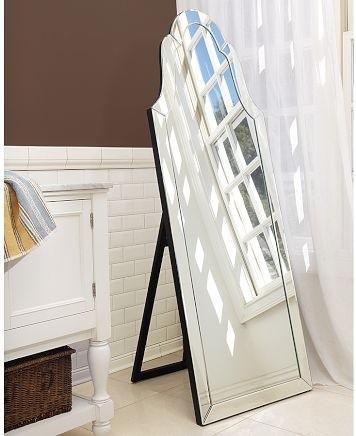 Elise Floor Mirror, Pottery Barn traditional-mirrors