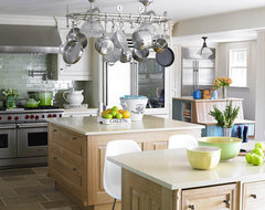 New York, calm blue organized kitchen traditional kitchen