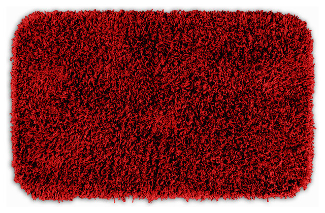 Quincy Super Shaggy Red Hot Washable Runner Bath Rug 2 39 X 3 39 4 Contemporary Rugs By