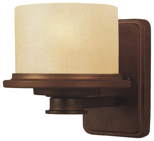 Portfolio 1-Light Bronze Wallchiere Sconce - wall sconces - by