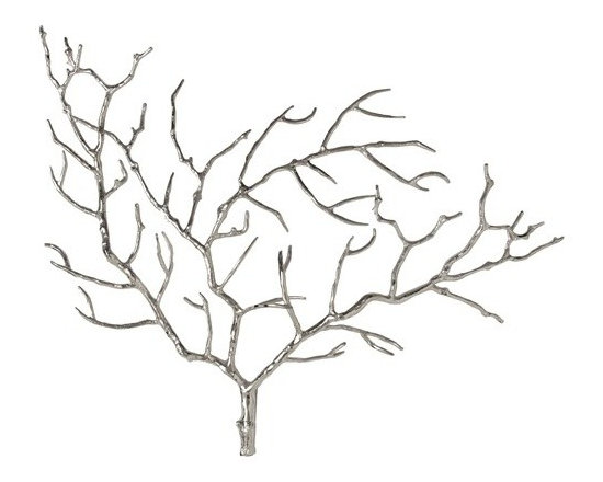 Arteriors Edwin Metal Tree Branch Wall Sculpture - Edwin Metal Tree Branch Wall Sculpture