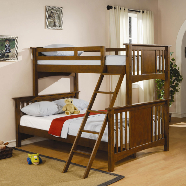 wood twin full bunk bed contemporary bunk beds new york by
