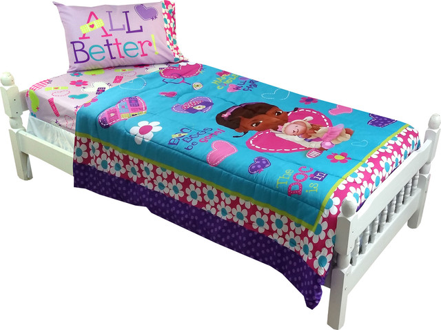 Doc Mcstuffins Twin Full Comforter No More Boo Boos Bedding Contemporary Kids Bedding By