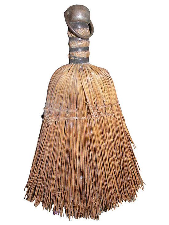 Primitive Hand Sweeper - Sweet petite primitive sweeper, well loved and used and ready to place in your favorite vignette or accent as artwork in your home.