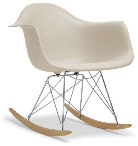 Plastic mid century modern shell chair contemporary rocking chairs