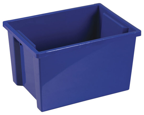 Ecr4kids - Ecr4Kids Daycare Rectangular Large Storage Organizer Plastic Bin Blue 20 Pack - Store everything you need in this extra large storage binStorage made attactive and easy Use these extra-deep, large storage bins with our trolley and classroom storage units. NoteColors may vary and are subject to change without notice.