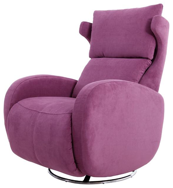 Famaliving Kim Fabric Upholstered Swivel & Powered