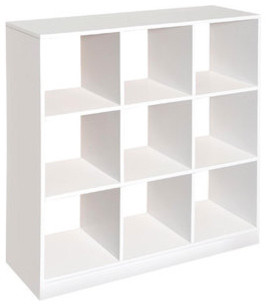 Badger Basket 9 Cubby Storage Unit, White - Modern - Bookcases - by ...