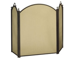 Minute Man Minuteman Intl. 3 Panel Belvedere Tubular Steel Fireplace Screen - Bl contemporary fireplace accessories
