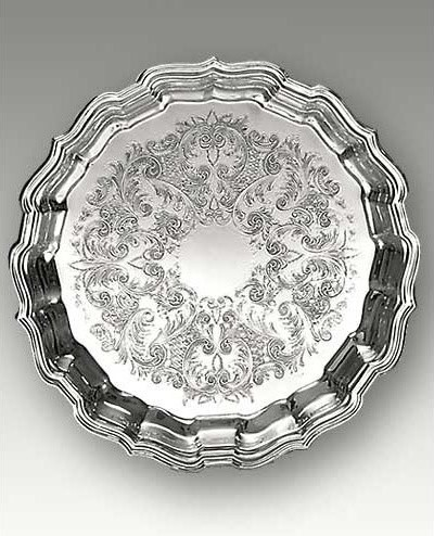 Reed & Barton Elegant Chippendale Serving Platter traditional serveware