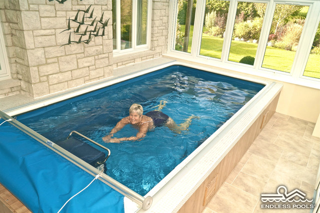 Indoor Sunroom Endless Pool® - Traditional - london - by ...