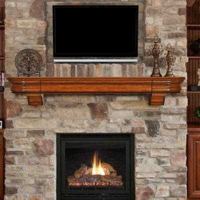 Pearl mantels abingdon fireplace mantel shelf with secret drawer modern display and wall - Beneficial contemporary fireplace mantel shelves ...