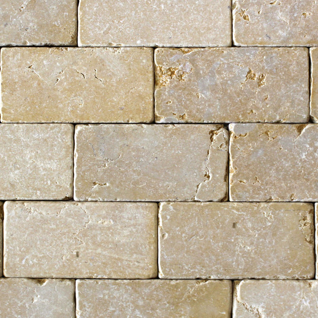 Jerusalem Gold Tumbled Tile Los Angeles By Ollin Stone