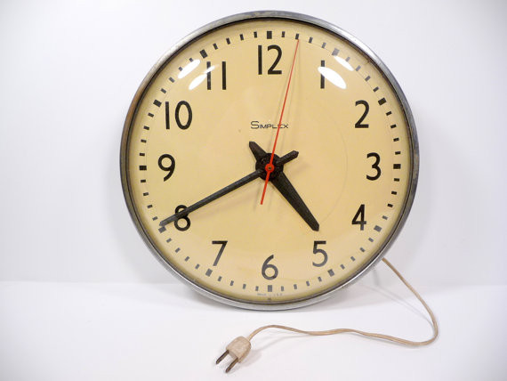 Simplex Schoolhouse Wall Clock traditional-wall-clocks