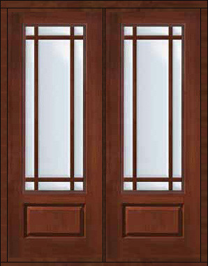 Prehung french double door 96 fiberglass marginal 9 lite for 96 inch exterior french doors